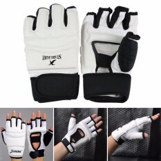 Setengah Jari Sarung Tangan Sarung Tapak Tinju Sanda Sandbag Karate Taekwondo Pelindung Ukuran S By Buy Tra.