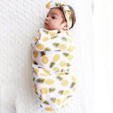 Hang-Qiao Cute Newborn Baby Blanket Swaddle Sleeping Bag + Hairband Sleepsack Stroller Wrap Outwear (yellow) By Hangqiao.