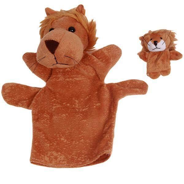 Hang-Qiao Kids Plush Animal Hand Puppets Lion Finger Toys Set - intl