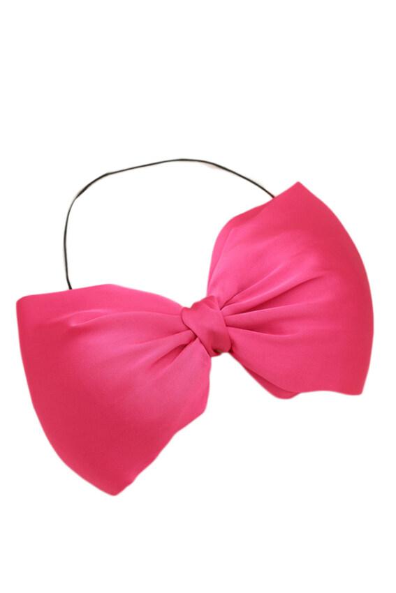 Hequ Bow Headwear Girls Hair Accessories (Fuchsia)