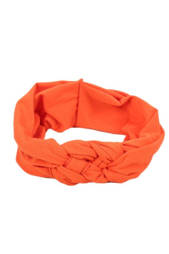 Hequ Toddler Turban Knitted Knot Cross Headband Soft Hair Accessories Girl Kids Hairband (Orange)