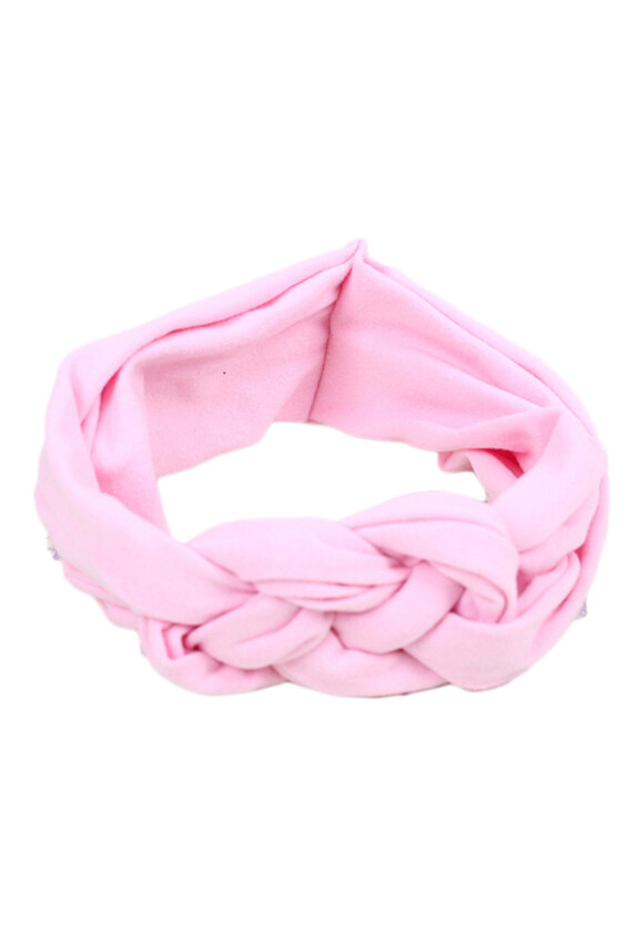 Hequ Toddler Turban Knitted Knot Cross Headband Soft Hair Accessories Girl Kids Hairband (Pink)