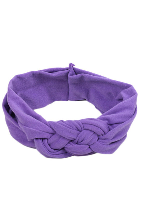 Hequ Toddler Turban Knitted Knot Cross Headband Soft Hair Accessories Girl Kids Hairband (Purple)