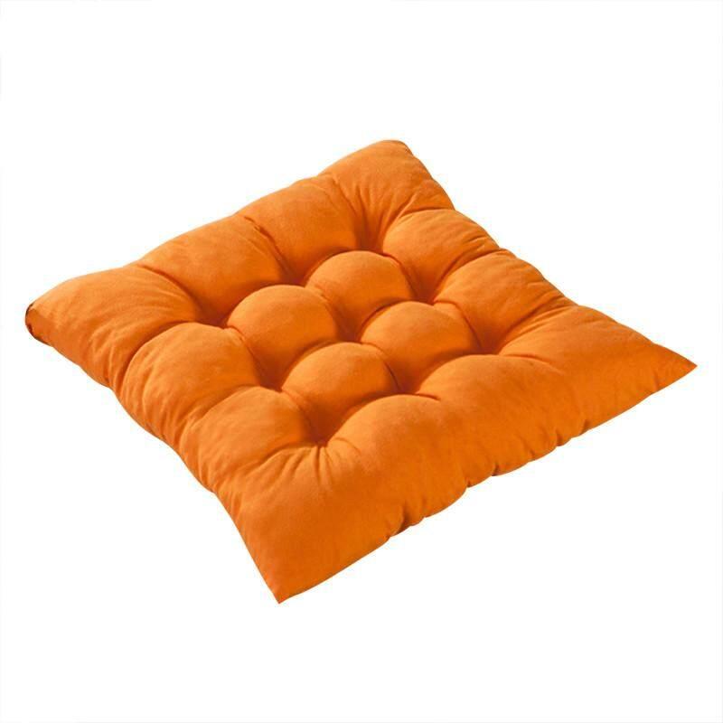 Kualitas Tinggi 11 Warna Polos Katun Kursi Bantalan Kursi Bantalan Alas dengan Kabel 40*40 Cm untuk Teras Rumah sofa Mobil Kantor Tatami-Oranye-Internasional