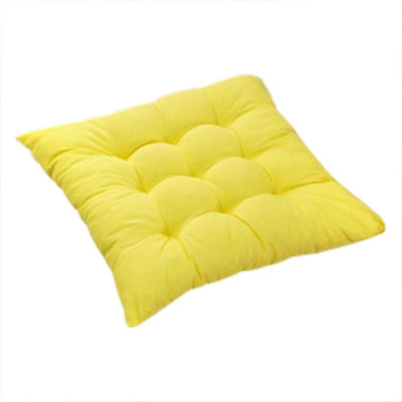 Kualitas Tinggi 11 Warna Polos Katun Kursi Bantalan Kursi Bantalan Alas dengan Kabel 40*40 Cm untuk Teras Rumah sofa Mobil Kantor Tatami-Kuning-Internasional