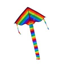 High Quality Triangle Rainbow Kite Outdoor Fun Sports By Trustinyou.
