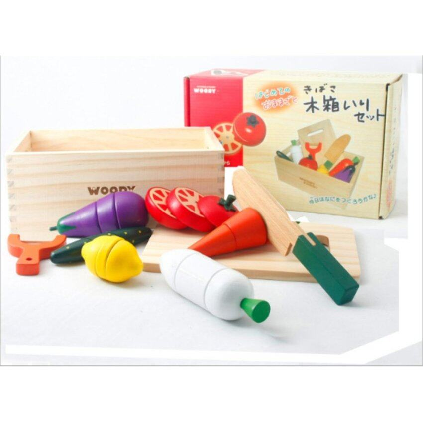 [High Quality Wood] Kids Wooden Magnetic Vegetables Cut