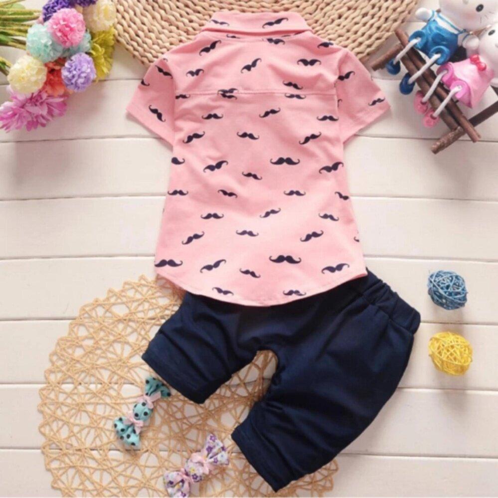Baby Boy Pink Polo Shirt Joe Maloy