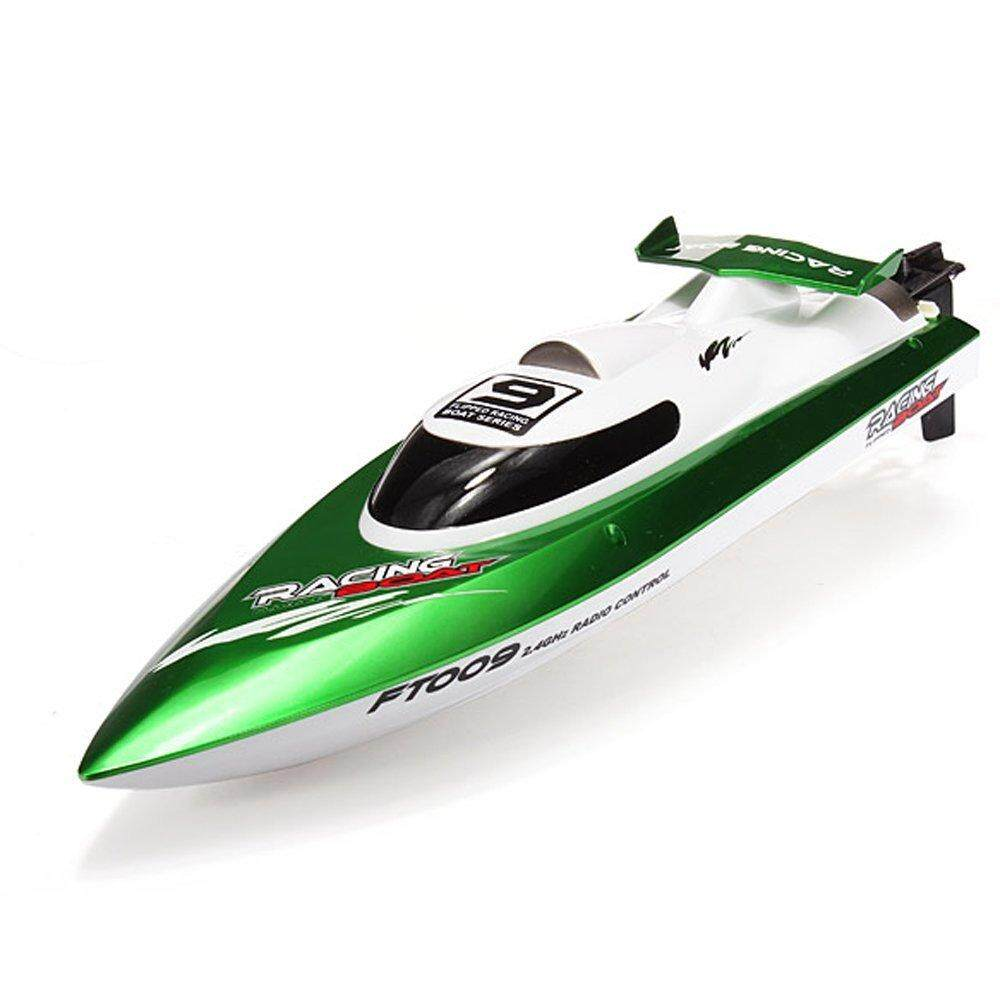 FS Big Sale High Speed Racing Flipped RC Boat Electric Remote Control Speedboat Water Cooling Motor System FT009 2.4G 4CH Green