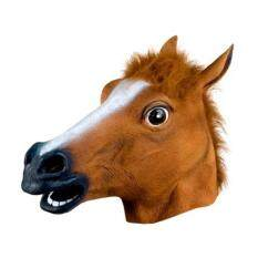 Horse Head Latex Mask Animal Zoo Funny Halloween Costume Prop Toys Novel By Michelle Trading.