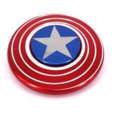 hot cool toy Superhero Captain batman shield flag Hand spinner triangle Fingertip gyroscope fidget spinner gyro