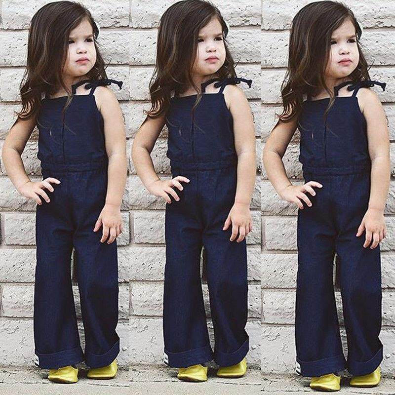 02ef5a21a3e Hot Summer Newborn Kid Baby Girls Denim Overalls Romper Jumpsuit Outfit  Clothes - intl