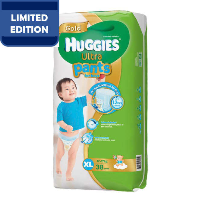 Huggies Ultra Pants Boy XL38 x 3 Super Jumbo pack