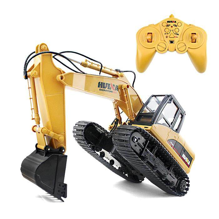 Price Huina 1550 1 14 2 4Ghz 15Ch Rc Alloy Excavator Rtr With Independent Arms Programming Auto Demonstration Function Intl Oem New