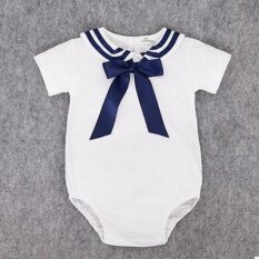 0912016e97e Imported Baby clothes short sleeve kids baby sailor suit baby rompers  summer Newborn boys girls rompers