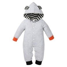 Infant Baby Boy Fox Print Hooded Long Sleeve Romper Jumpsuit Gift By Broadfashion Store.