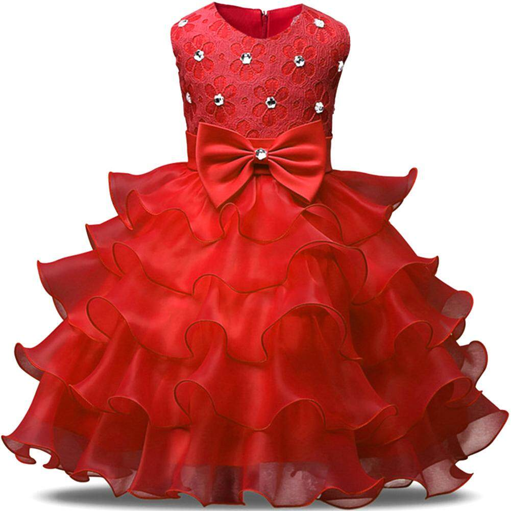 Buy Sell Cheapest Bayi Renda Diamond Best Quality Product Deals Bando Anak Gadis Lucu Tanpa Lengan Gaun Ikatan Simpul Berlian Rok Bunga Ulang Tahun Pernikahan