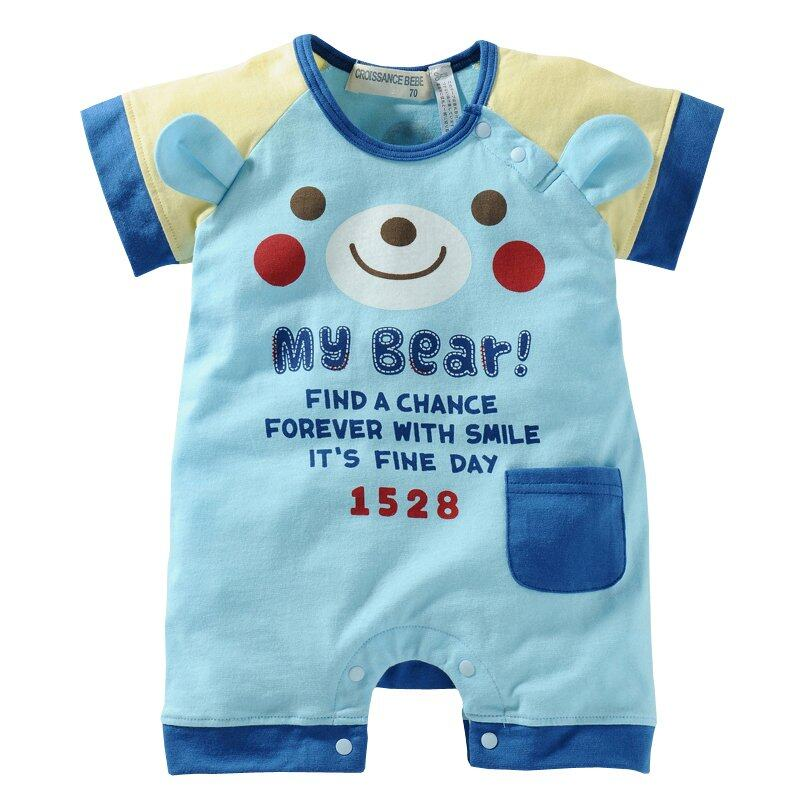 SoonYip Infant Baby Romper Short Sleeve Summer Clothes Suits Bebe Newborn Boy Girl Bodysuit Jumpsuits –