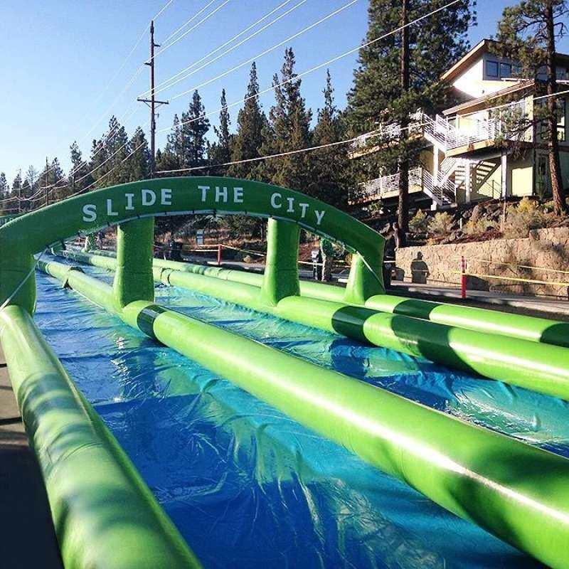 Huremwp Inflatable Dry Land Slide By Huremwp.