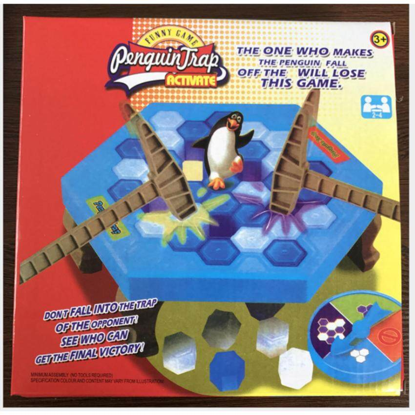 Interactive Intelligent Ice Breaking Save the Penguin Trap on Ice Table Game Toy