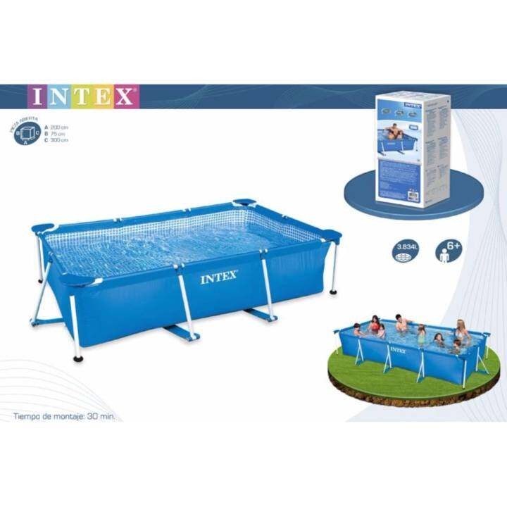Intex above ground swimming pool large size steel frame - Largest above ground swimming pool ...
