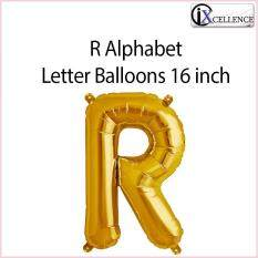 [ix] Alphabet R Letter Balloon 16 Inch (gold) By Ixcellence.
