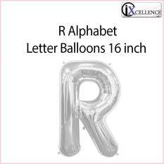 [ix] Alphabet R Letter Balloon 16 Inch (silver) By Ixcellence.