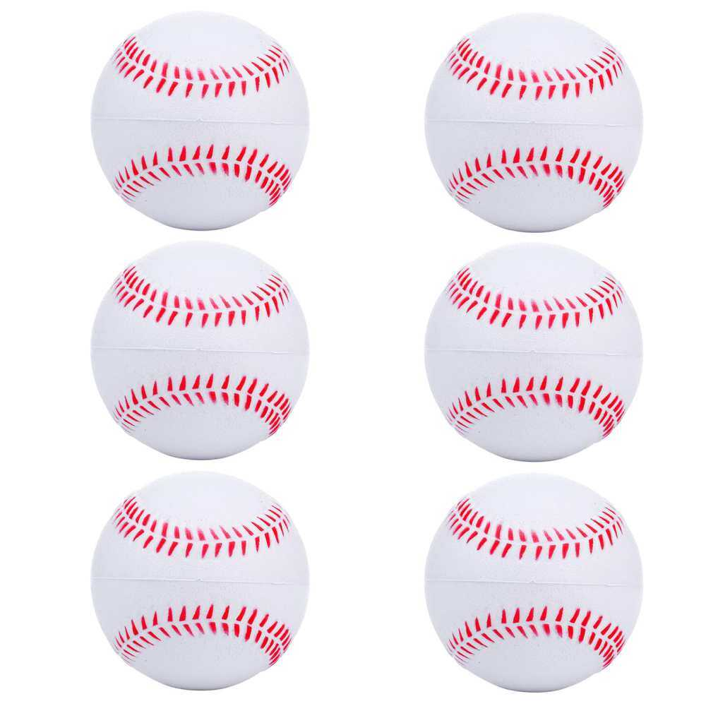 Jaxuzha 6pcs Foam Baseball Balls Reduced Players Impact Softball Safety For Children Teenager By Army Univ.