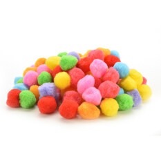 Mixed Color Soft Fluffy Poms 100pcs 40mm By Gorgeous Road.