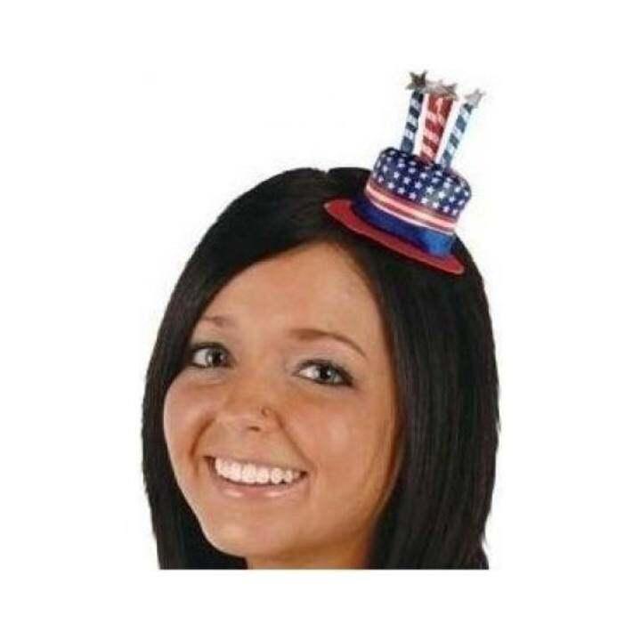 JOR Uncle Sam Hat Hair Clip Party Accessory (1 Count) (1/Pkg)