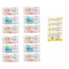 K-MOM Natural Pureness Baby Wet Wipes - 100pcs X 12