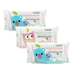 K-MOM - Natural Pureness Baby Wet Wipes 100pcs X 3