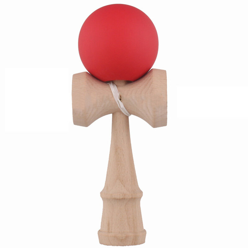 Hình ảnh Kendama Japanese Traditional Game Skillful Wooden Toy Rubber Paint Ball (Red) - intl