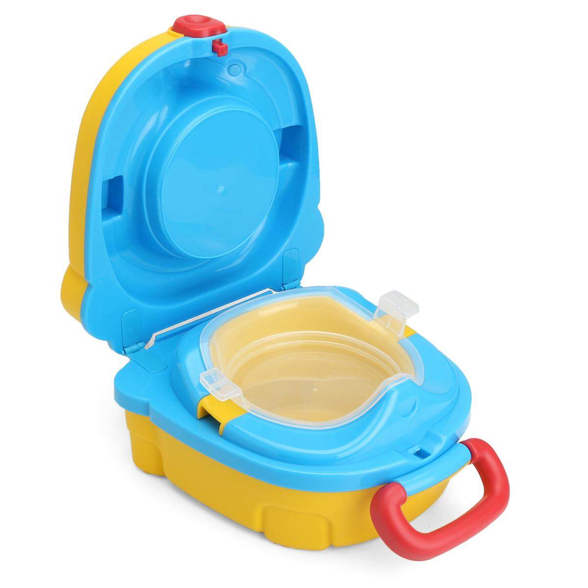 Kid Baby Toddler Portable Travel Potty Urinal Toilet Pee Pot Training Seat Chair Yellow - intl