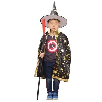 Bandingkan Toko Anak Anak Laki-laki Kostum Halloween Perempuan Tukang Sihir Penyihir Jubah Mantel dengan Topi Halloween Peran Gaun Bermain-Up Persediaan ...