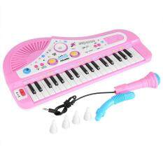 Kid Electronic Keyboard Piano With Microphone 37 Keys Educational Instrument Toy Baby Gift By Shanyustore.