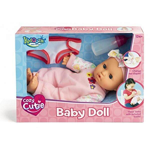 Kidoozie Snug and Hug Baby Doll – Includes Removable Diaper and a Bottle – Ages 12 Months and Up - intl