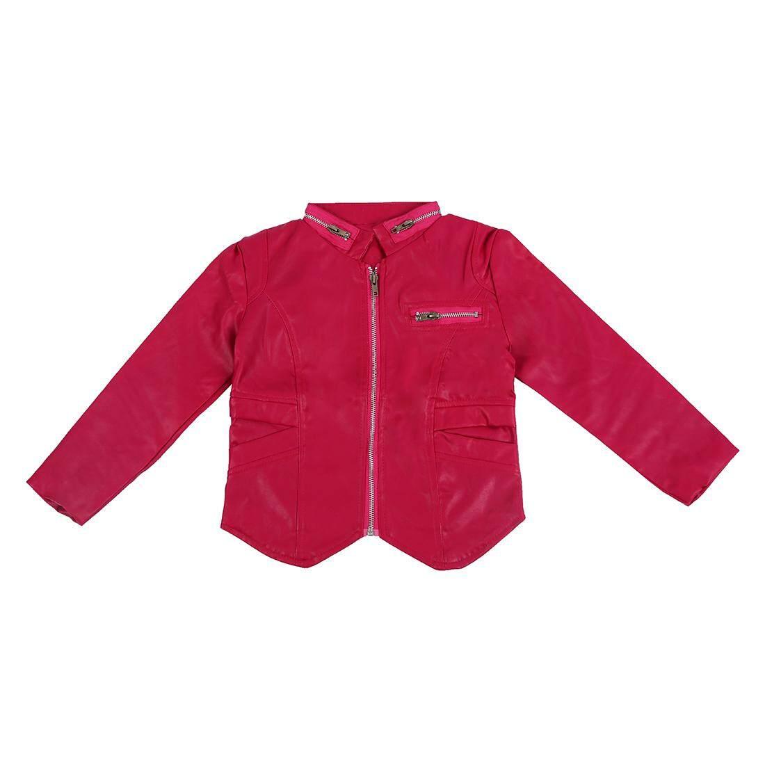 เด็ก Angel Wing แจ็คเก็ตตัวนอกสำหรับเด็กชายเด็กหญิงเด็กแฟชั่นเสื้อแจ็คเก็ตหนัง Pu สำหรับฤดูใบไม้ร่วงเสื้อผ้าแจ๊กเก็ตสีแดงกุหลาบ 110 เซนติเมตร - Intl.