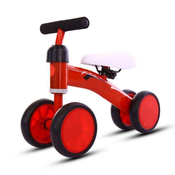 Kids Baby 4 wheel Balance Bike Push Trainer Toddler Bicycle Walker Ride On Toy