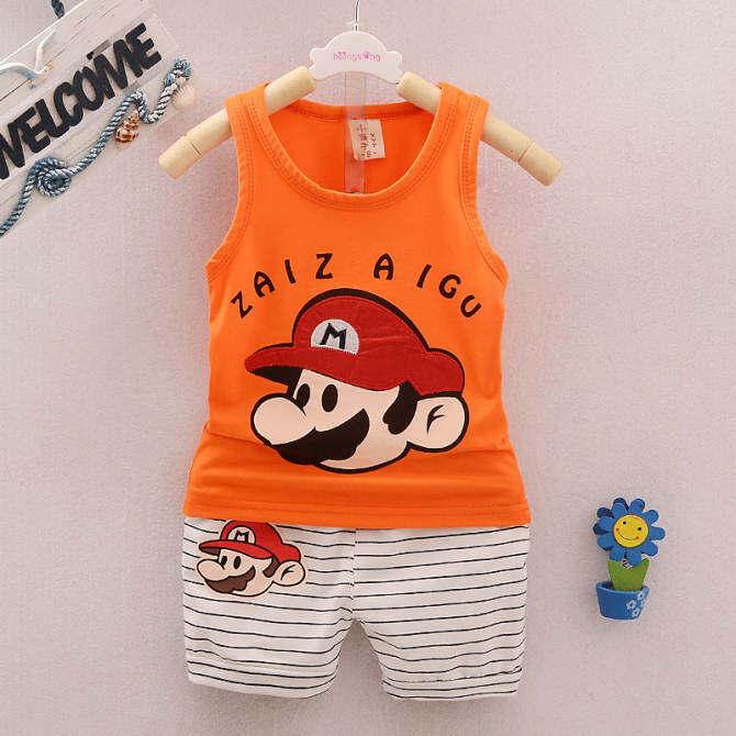 ... Kids Clothes Baby Boys Summer Clothes Children Clothing Sets Cartoon Sleeveless Tops + Pants Sport Set ...