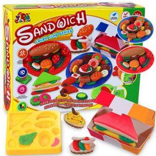 Quà Tặng Trẻ Em Bộ Khuôn Bột Nhào, Đồ Chơi Đất Sét Mềm Dẻo Chế Độ Sandwich Khỏe Mạnh thumbnail