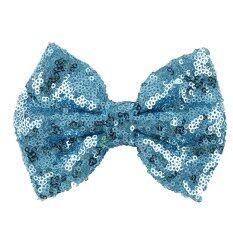 Kids Girls Sequins Bow Hair Clips Blue