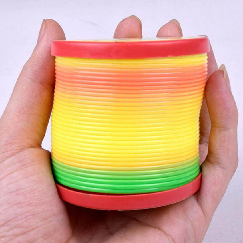 Kids Magic Slinky Rainbow Bounce Fun Toy Plastic Colorful Educational Toy