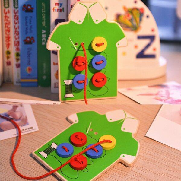 Rp 44.000. Anak-anak Mainan Edukatif Montessori Manik-manik Anak-anak Papan Pengikat Mainan Kayu Balita Kancing Jahit Pendidikan Awal Alat ...