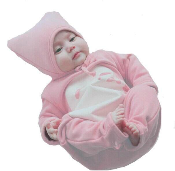HK Kids Warm Long Sleeve Bunny Style Pajamas Infant Cotton Zipper Jumpsuits Baby Newborn Cat Cosplay