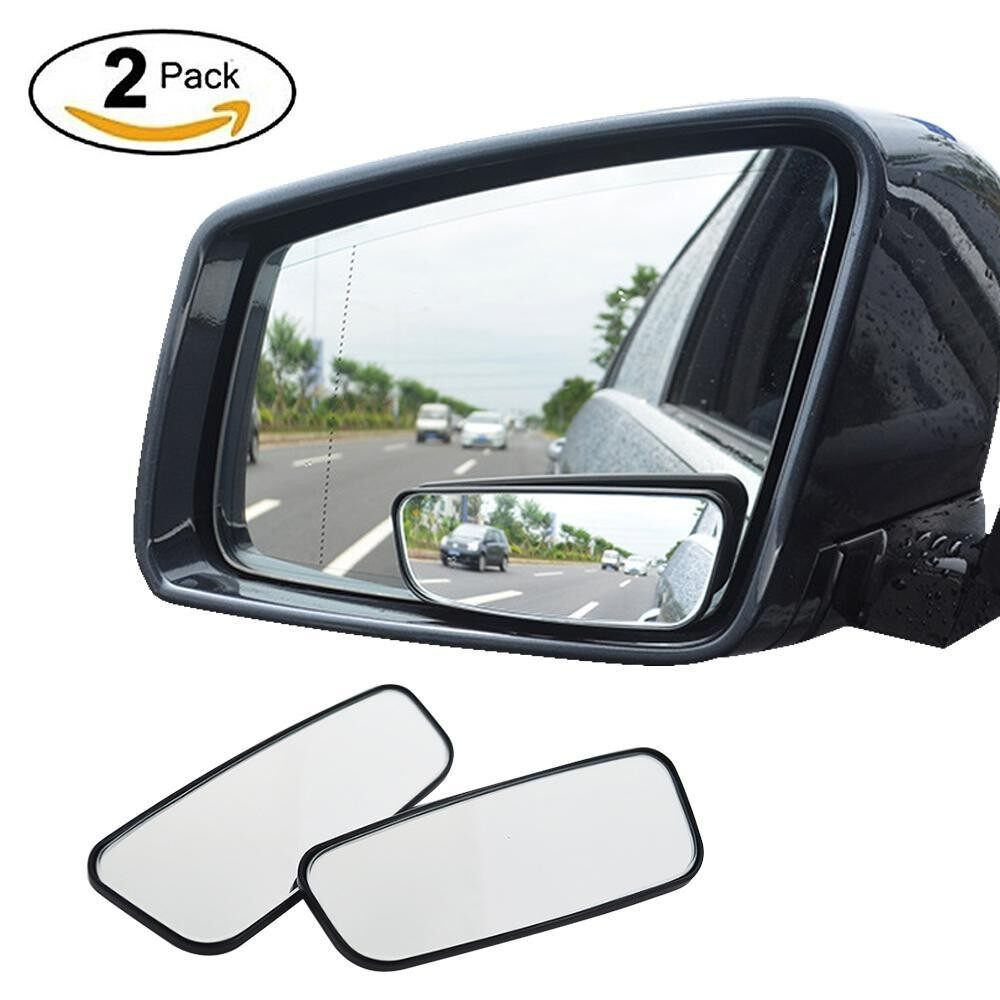 Blind Spot Mirror, 2 Pack Square Hd Glass Convex Rear View Mirror For All Universal Vehicles Car Fit Stick-On Design - Intl By Aolvo.