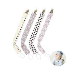 Kobwa Unisex Baby Stylish Soother Chain Holders,baby Dummy Pacifier Clip Strap For Teething Toys Ring Holder ,4 Pack By Kobwa Direct.