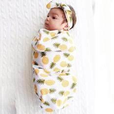 Lalang Newborn Baby Swaddle Sleeping Bag + Hairband Sleepsack Stroller Wrap Outwear (yellow) By Mode Shop.