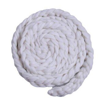 LALANG Newborn Photography Props Baby Photo Braid Blanket Crochet Knitted Costume (White)