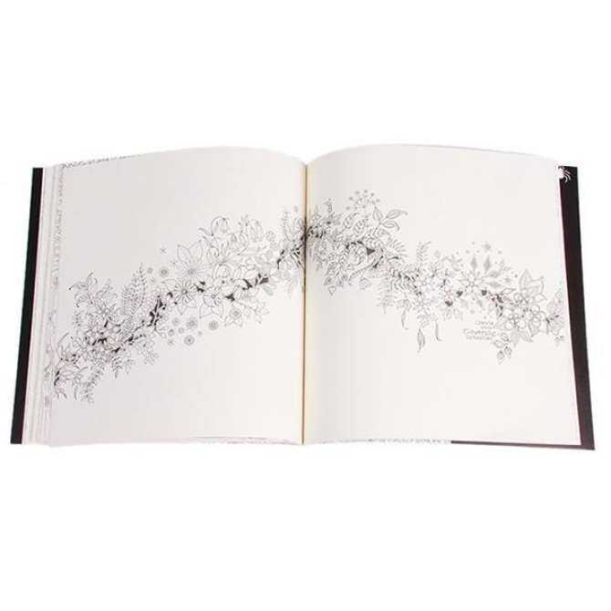 LALANG Secret Garden Coloring Book 48 Pages Black And White
